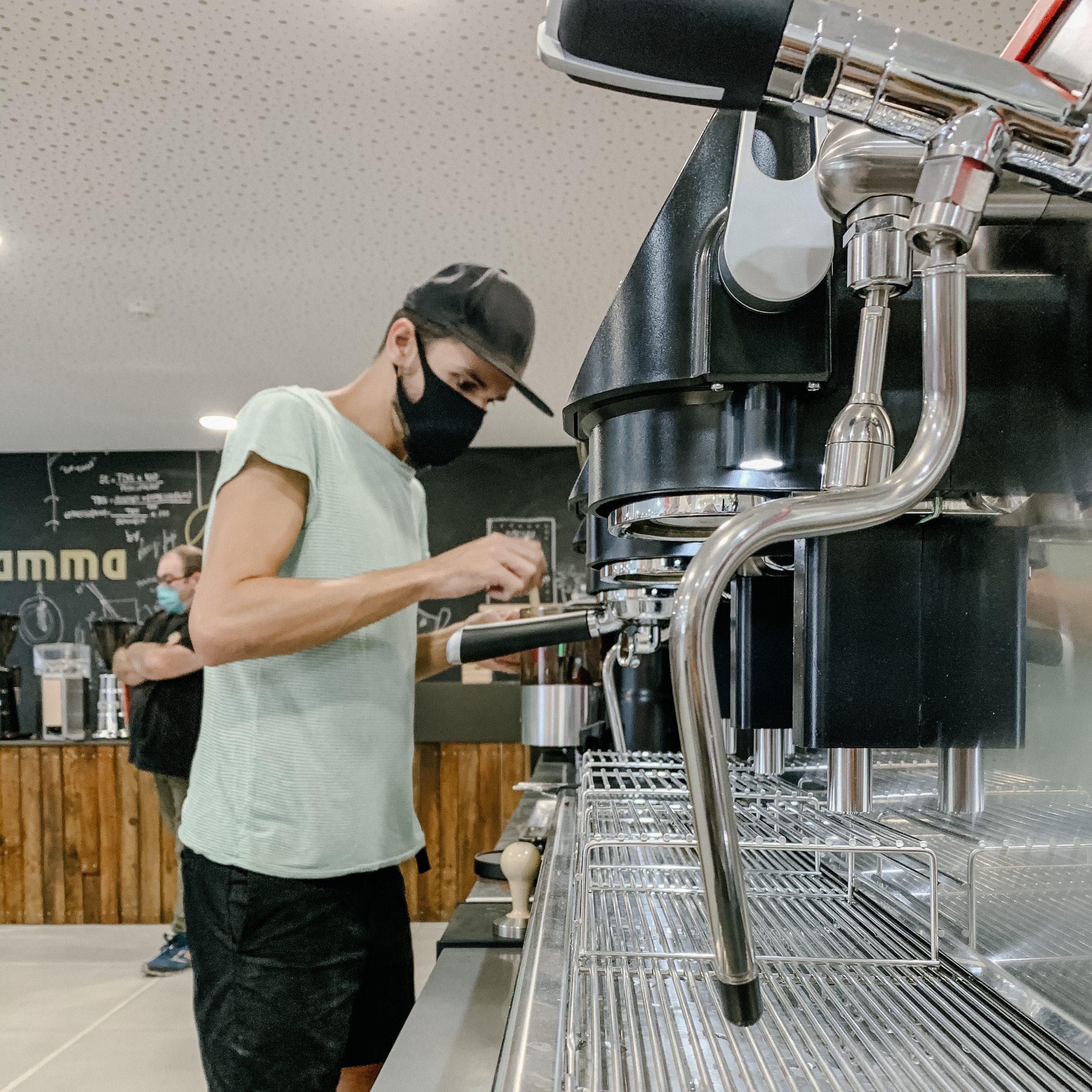 Work with an espresso machine
